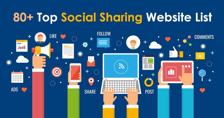 social sharing website list